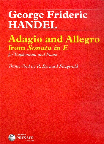 Adagio and Allegro from Sonata in E: for euphonium and piano