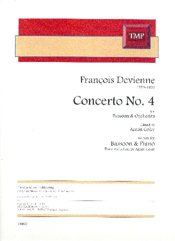 Concerto no.4: for bassoon and piano