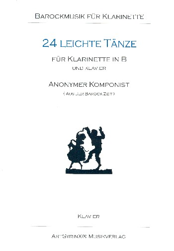 24 leichte Tänze (+CD): für Klarinette und Klavier