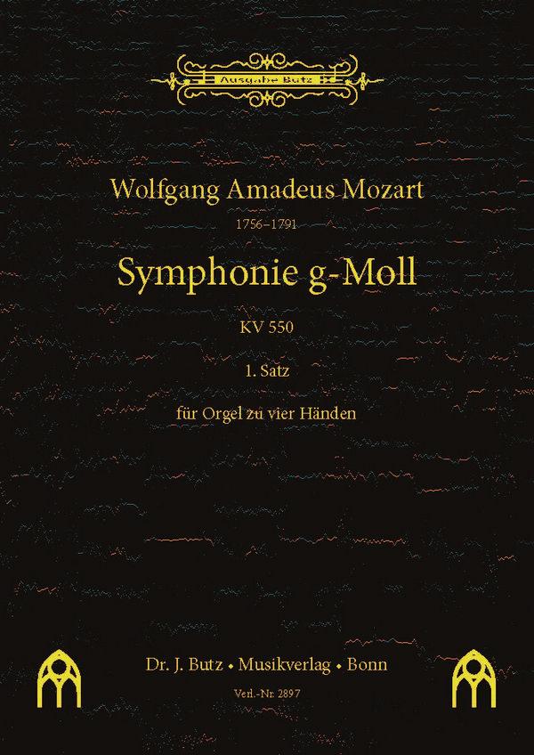 1. Satz aus Sinfonie g-Moll KV550: für Orgel zu 4 Händen