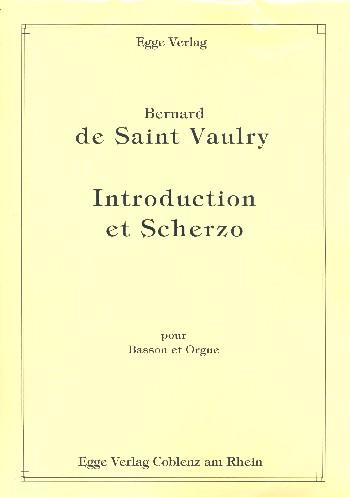 Introduction et Scherzo: pour basson et orgue