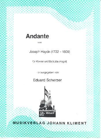 Andante: für Basstuba (Fagott) und Klavier
