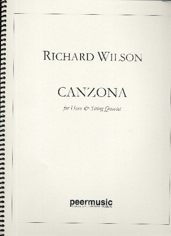 Canzona: for horn and string quartet