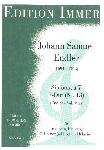 Sinfonia à 7 F-Dur Nr.46: für Trompete, Pauken, 2 Hörner ad lib. und Klavier