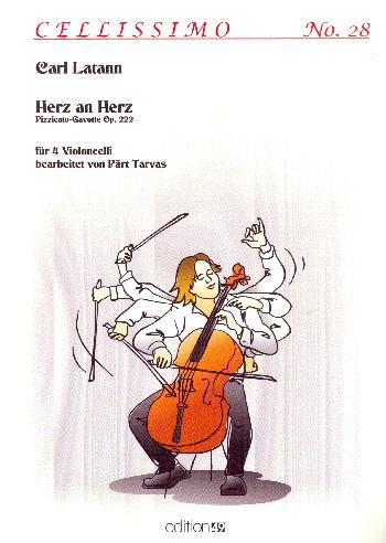 Herz an Herz opus.222: für 4 Violoncelli