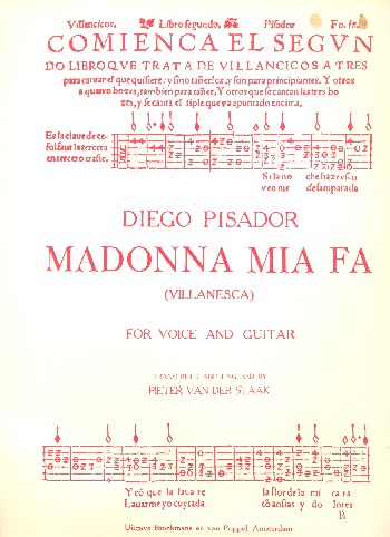 Madonna mia: for voice and guitar