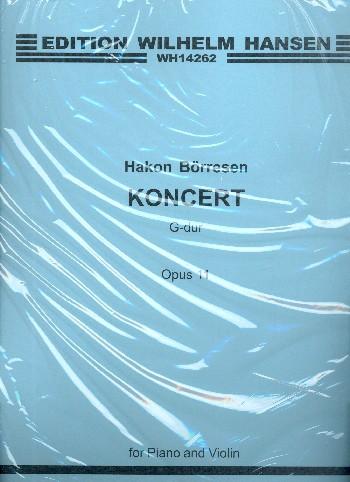 Konzert G-Dur opus.11 für Violine und Orchester: für Violine und Klavier