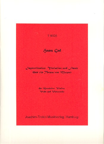 Improvisation, Variationen und Finale über ein Thema von Mozart opus.60: für Mandoline, Violine, Viola und Violoncello