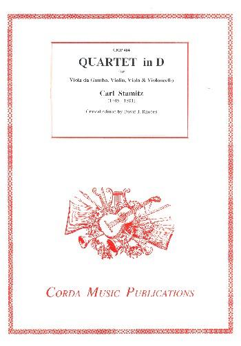 Quartet in D: für Viola da gamba, Violine, Viola und Violoncello