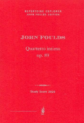 Quartetto intimo opus.89: für Streichquartett
