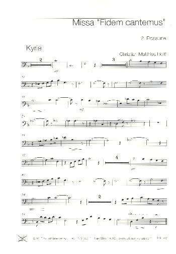 Missa Fidem cantemus: für Chor (SAM/SATB/Kinderchor), Bläser und Orgel