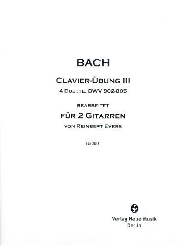 4 Duette aus Clavierübung III: für 2 Gitarren