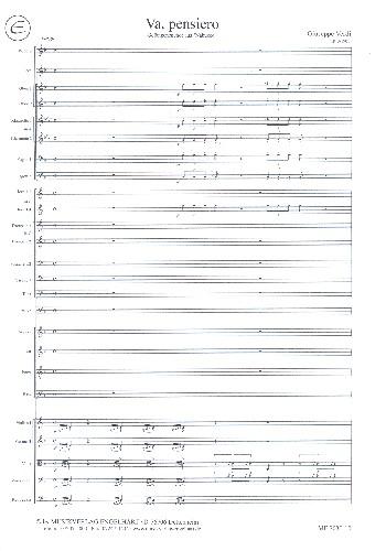 Va pensiero: für gem Chor und Orchester