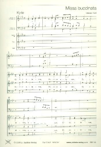 Missa buccinata: für gem Chor, 2 Trompeten und 2 Posaunen