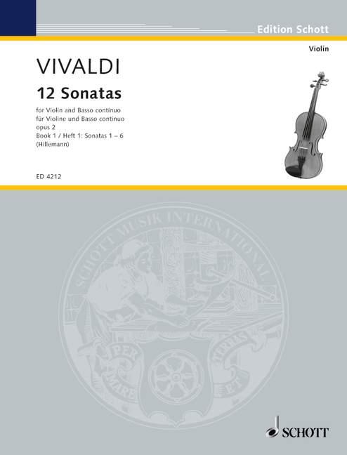 12 Sonaten opus.2 Band 1: für Violine und Klavier