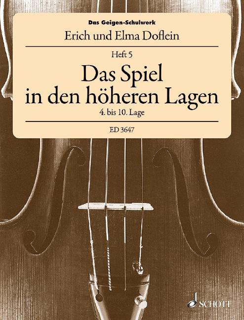 Das Geigenschulwerk Band 5: Das Spiel in den höheren Lagen