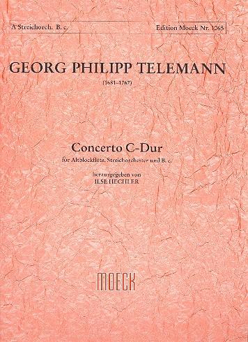 Telemann, Georg Philipp - Concerto C-Dur : für Altblockflöte,