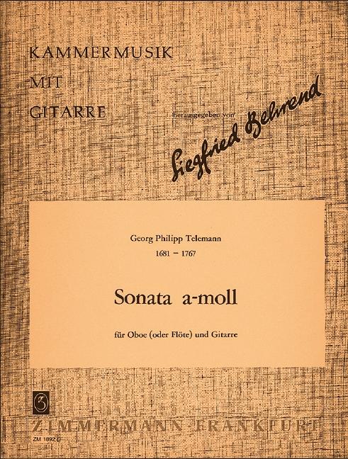 Telemann, Georg Philipp - Sonate a-Moll D821 : für Oboe