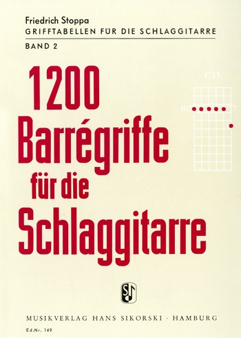1200 Barré-Griffe: für Schlaggitarre