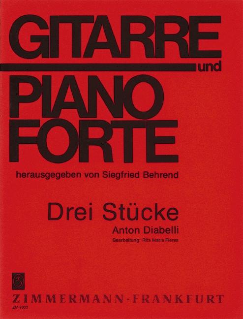 3 Stücke: für Gitarre und Klavier
