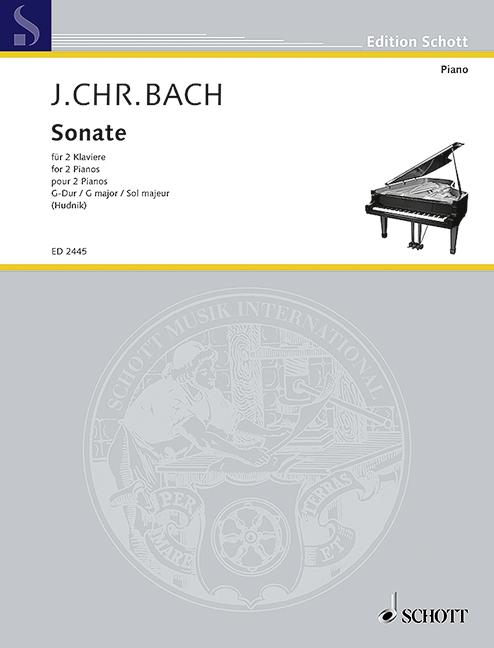 Bach, Johann Christian - Sonate G-Dur : für 2 Klaviere