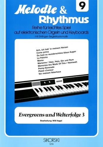 Evergreens und Welterfolge Band 3: für E-Orgel / Keyboard