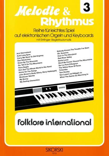 Folklore international: für E-Orgel / Keyboard