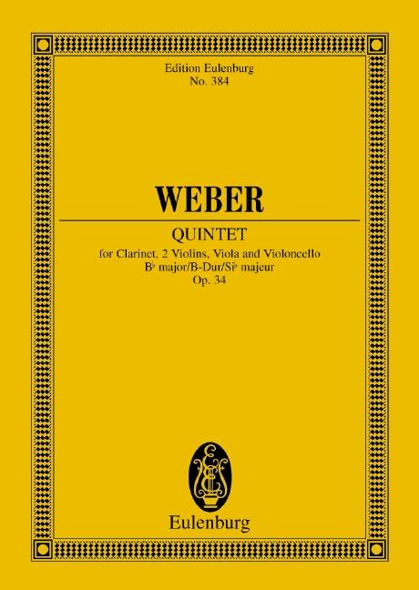 Weber, Carl Maria von - Quintett B-Dur op.34 : für
