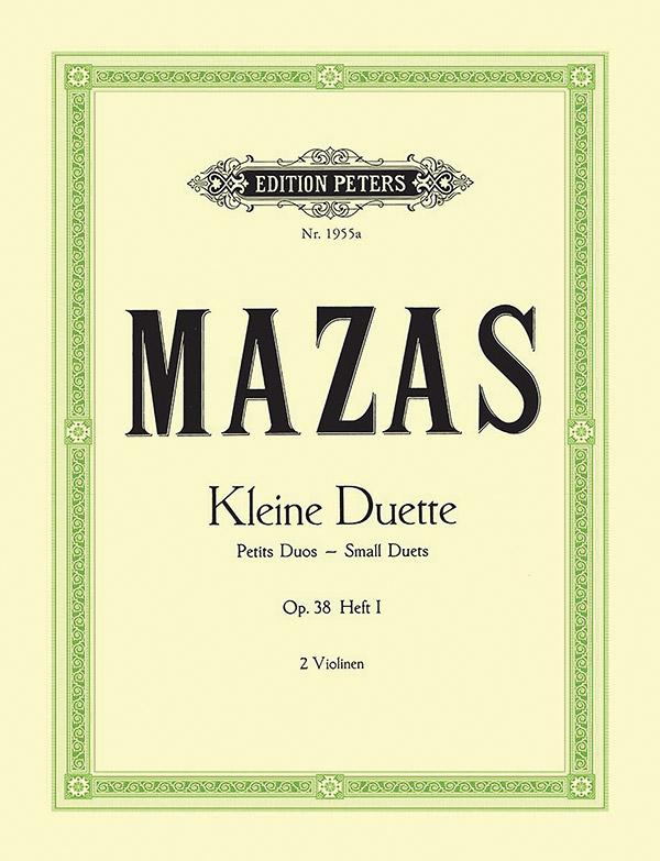 12 kleine Duette op.38 Band 1: für 2 Violinen