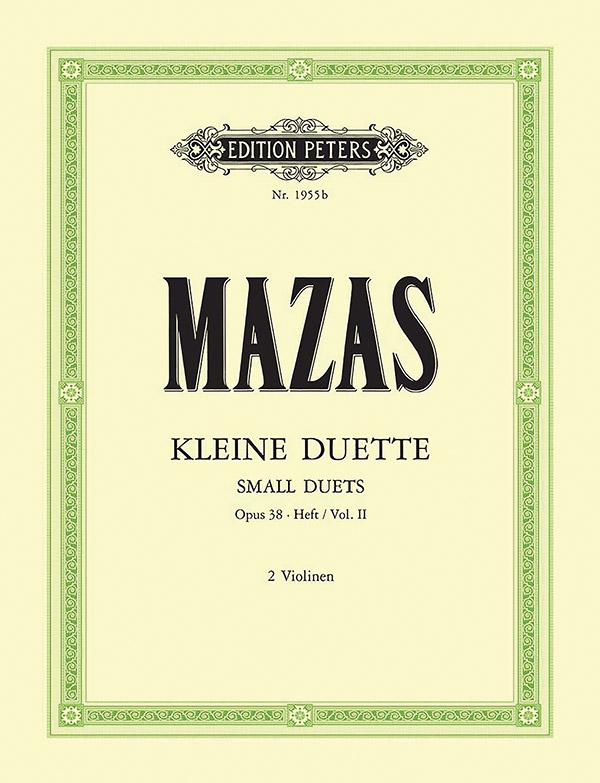 12 kleine Duette opus.38 Band 2: für 2 Violinen