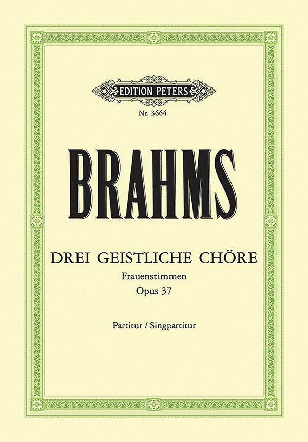3 geistliche Chöre opus.37: für Frauenchor Partitur (dt)