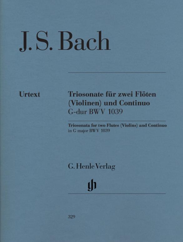Bach, Johann Sebastian - Triosonate G-Dur BWV1039 :