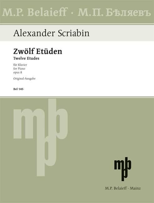 Skriabin, Alexander - 12 Etüden op.8 :