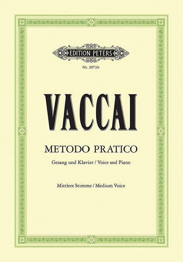 Metodo pratico di canto italiano: für Gesang und Klavier