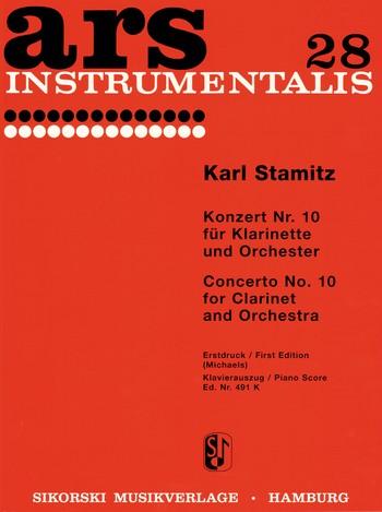 Stamitz, Karl - Konzert B-Dur Nr.10 für Klarinette