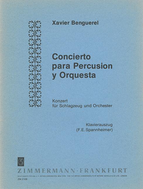 Konzert für Schlagzeug und Orchester: für Schlagzeug und Klavier