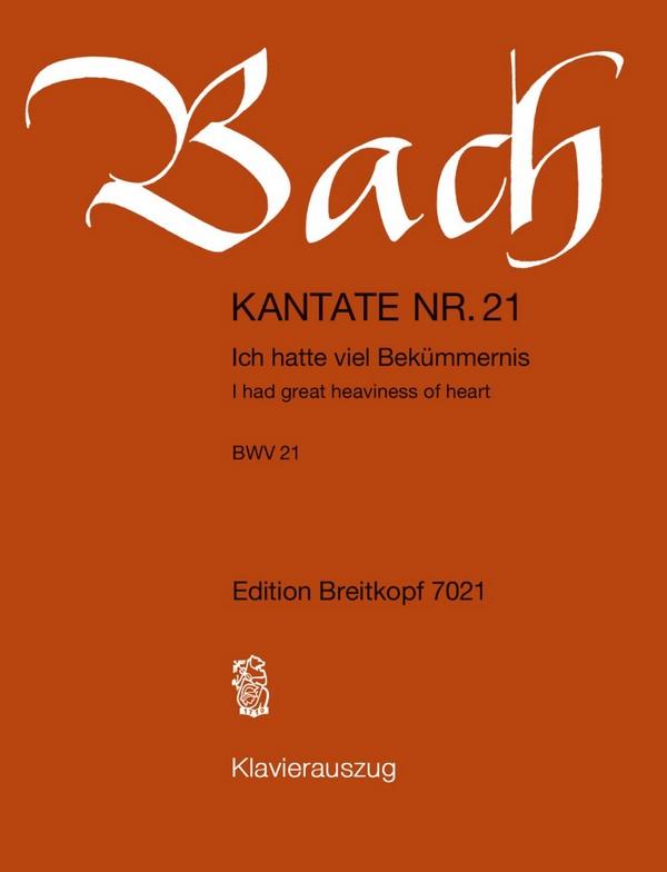 Bach, Johann Sebastian - Ich hatte viel Bekümmernis :