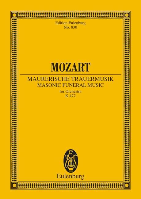 Maurerische Trauermusik c-Moll KV477: für Orchester