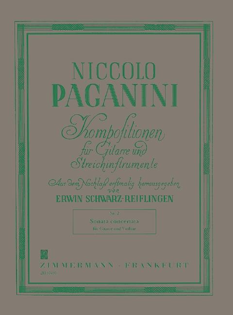 Paganini, Nicolò - Sonata concertata : für Violine