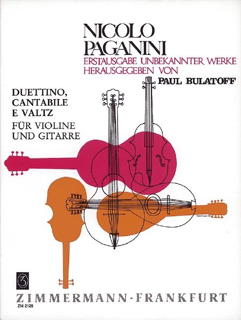 Paganini, Nicolò - Duettino : Cantabile e Valtz