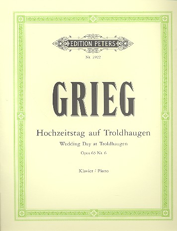 Grieg, Edvard Hagerup - Hochzeitstag auf Troldhaugen