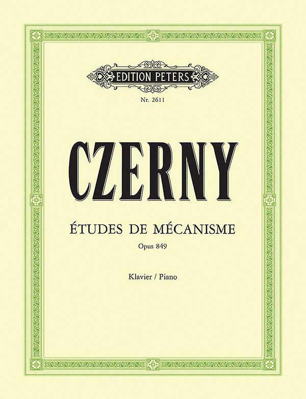 Czerny, Carl - Études de Mécanisme op.849 :