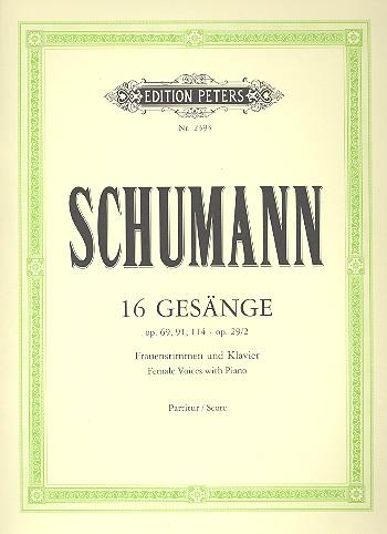 16 Gesänge: für Frauenchor und Klavier
