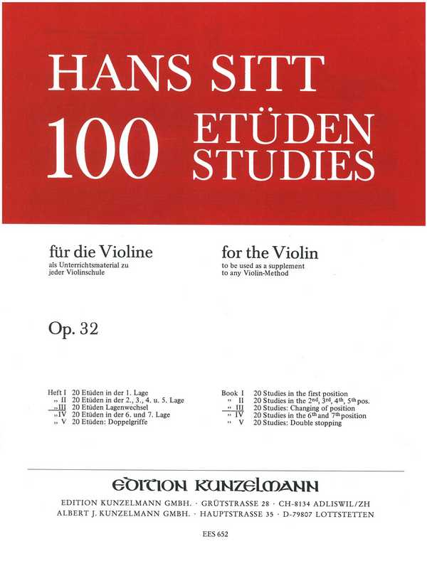 100 Studies opus.32 vol.3: for violin