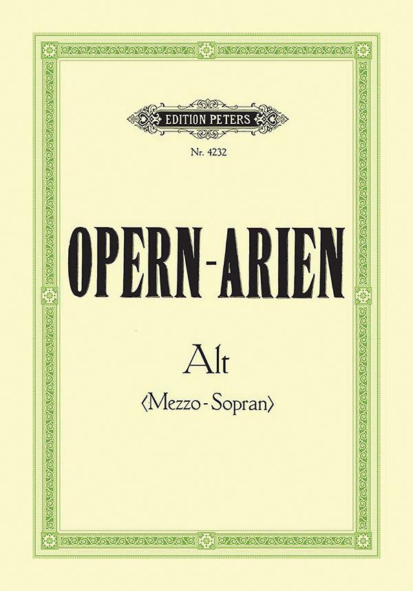 - Opernarien : Sammlung für Alt oder