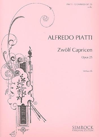 12 Capricen opus.25: für Violoncello