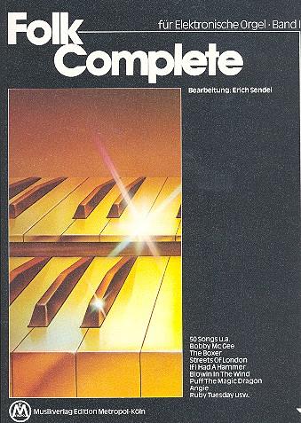 Folk complete 1: für E-Orgel