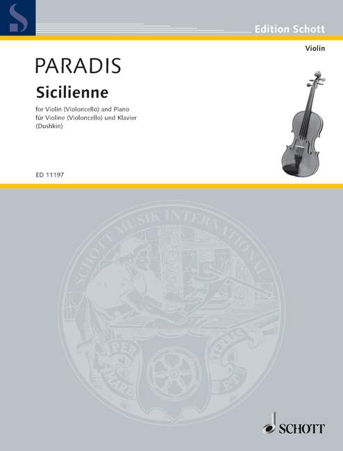 Paradis, Maria Theresia von - Sicilienne : for violin and piano