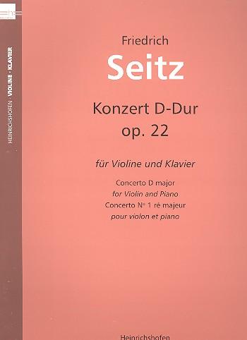 Konzert D-Dur Nr.2 op.22: für Violine und Klavier