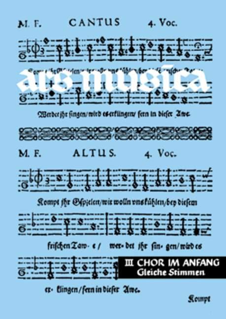 - Chor im Anfang : leichte Chorsätze